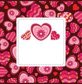 Cartão de amor — Vetor de Stock
