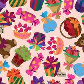 Seamless gift pattern — Stock Vector