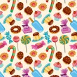Seamless candy pattern — Stock Vector