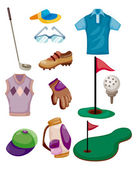 Cartoon golf pictogram — Stockvector