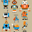 Cute robot cartoon - Stock Vector