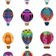 Cartoon hot air balloon icon — Stock Vector #8091767