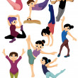Cartoon gymnastic icon - Stock Vector
