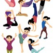 Cartoon gymnastic icon - Image vectorielle