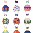 Stock Vector: Cartoon hot air balloons
