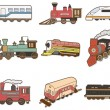 Stock Vector: Cartoon Train