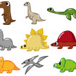 Cartoon dinosaur icon — Stock Vector #8094067
