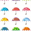 Cartoon umbrellas icon — Stock Vector