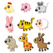 Cartoon animal — Stock Vector