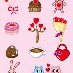 Cartoon Valentine icon — Stock Vector
