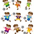 Cartoon soccer icon — Stock Vector