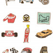 Stockvektor : Cartoon f1 car icon
