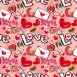 Seamless love pattern — ストックベクター #8094618