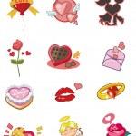 Cartoon Valentine's Day icon — Stock Vector