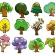 Cartoon tree icon - 