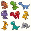 Cartoon Dinosaur icon - Stock Vector