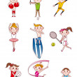 Cartoon sport — Stock Vector