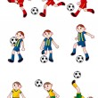 Cartoon Football player icon - Stock Vector