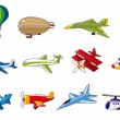 Stock Vector: Cartoon airplane icon
