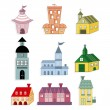 Cute house icon — Stock Vector