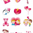 Cartoon Valentine's Day — Stock Vector
