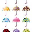 Cartoon Umbrellas icon — Stock Vector