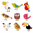 Cartoon vogels pictogram — Stockvector  #8095353