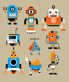 Cute robot cartoon — Stock Vector