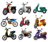 Motocicleta de dibujos animados — Vector de stock