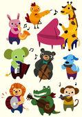 Cartoon music animal icon — Stock Vector