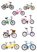 Karikatür bisiklet — Stok Vektör