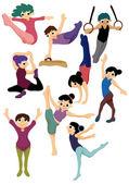 Cartoon gymnastic icon — Stock Vector