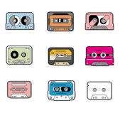 Cartoon music Tapes icon — Stock Vector