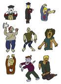 Cartoon zombies — Stock Vector
