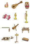 Cartoon Musical instrument icon — Stock Vector
