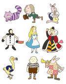 Cartoon Alice in Wonderland — Stock Vector