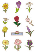 мультфильм цветок — Cтоковый вектор