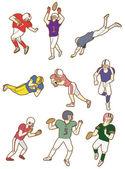 Cartoon football player icon — Stock Vector