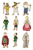 Cartoon Middle Ages — Stock Vector