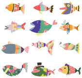 Cartoon pattern fish icon — Stock Vector