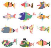 Cartoon pattern fish icon — Stock Vector