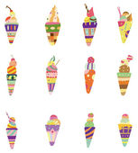 Cartoon ice cream icon — Stock Vector