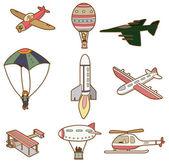 Cartoon air transport icon — Stock Vector