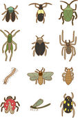 Cartoon insects icon — Stock Vector