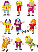 Cartoon Football player icon — Stock Vector