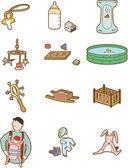 ícone do bebê dos desenhos animados — Vetorial Stock