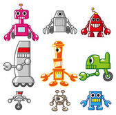 Cartoon robot icon — Stock Vector