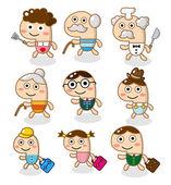 мультипликационный семейный символ — Cтоковый вектор