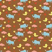 動物のシームレスなパターン — ストックベクタ