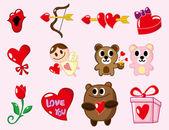 Cartoon Valentine's Day — Stock Vector
